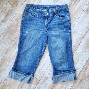 Lane Bryant Cropped Cuffed Jeans